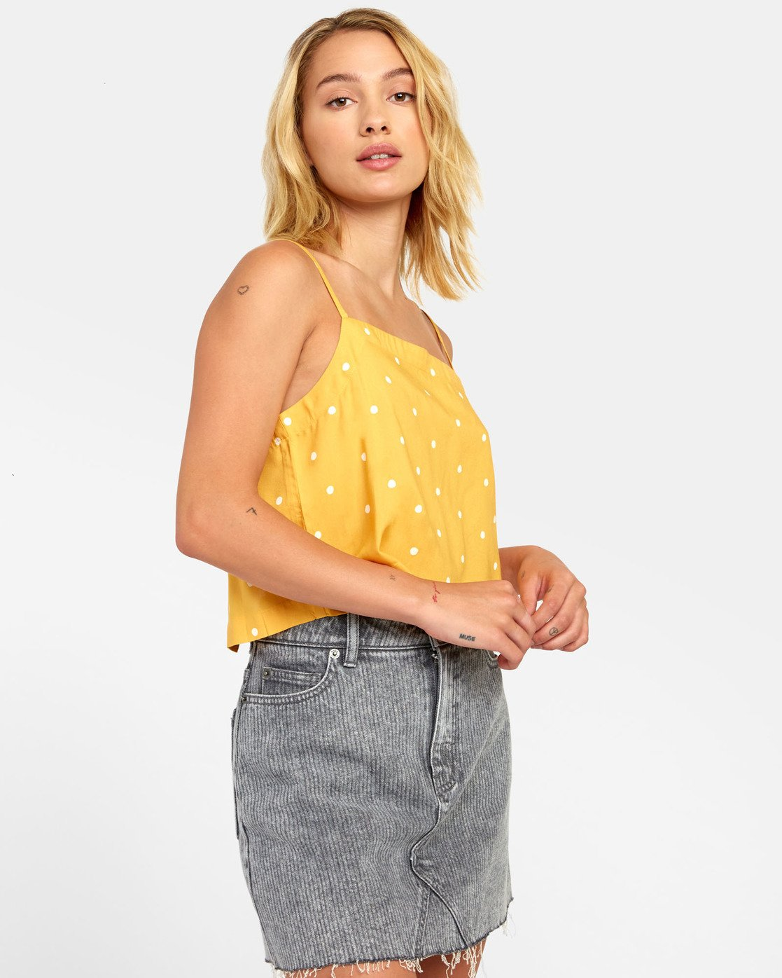 2 Logan - Printed Cami for Women Yellow S3TPRGRVP0 RVCA
