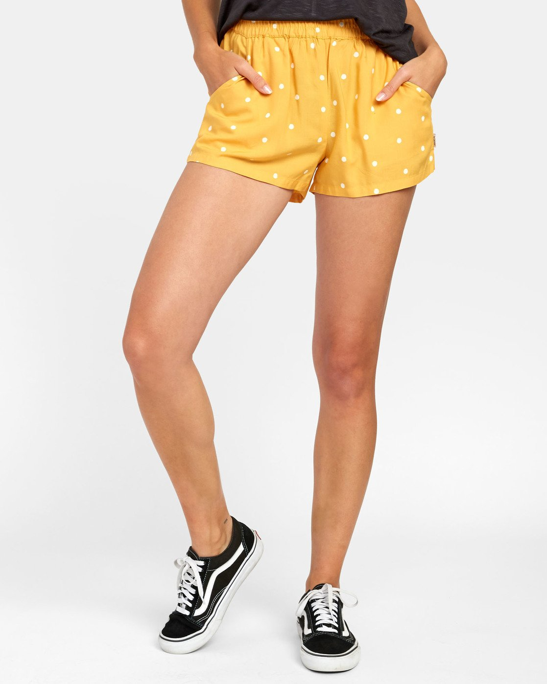 0 Suggest - Dot Print Shorts for Women Yellow S3WKRKRVP0 RVCA