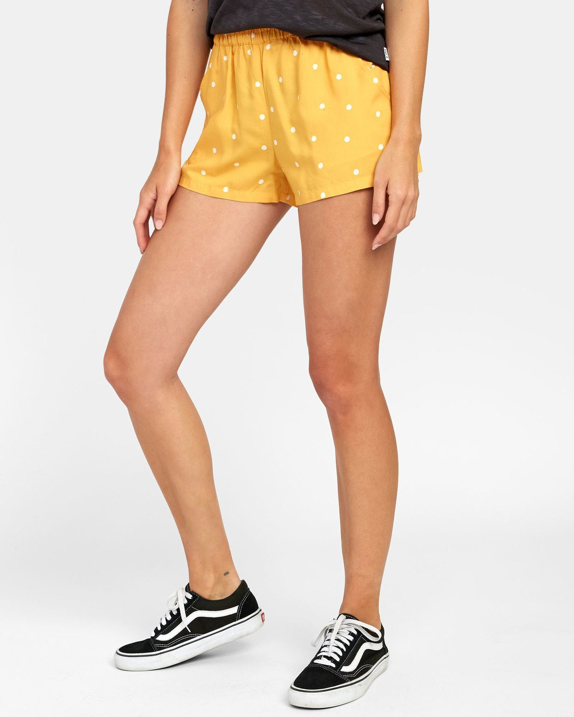 1 Suggest - Dot Print Shorts for Women Yellow S3WKRKRVP0 RVCA