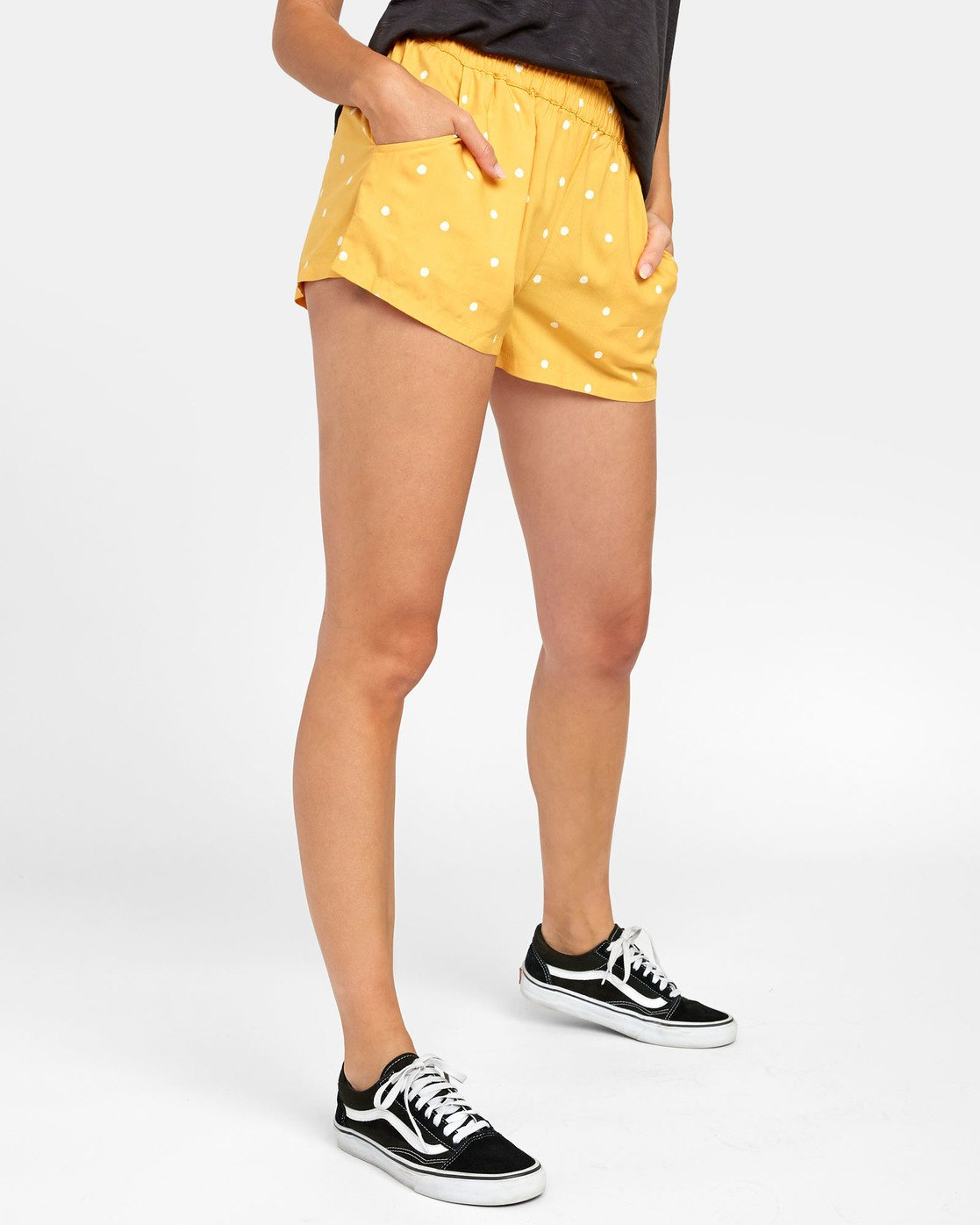 2 Suggest - Dot Print Shorts for Women Yellow S3WKRKRVP0 RVCA