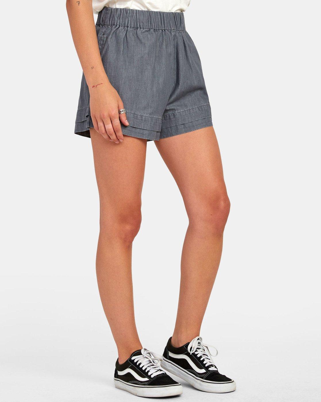 1 Kyan - Short en chambray pour Femme  S3WKRLRVP0 RVCA