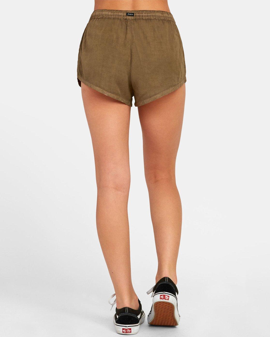 3 Camron - Short en toile à taille élastique pour Femme  S3WKRNRVP0 RVCA