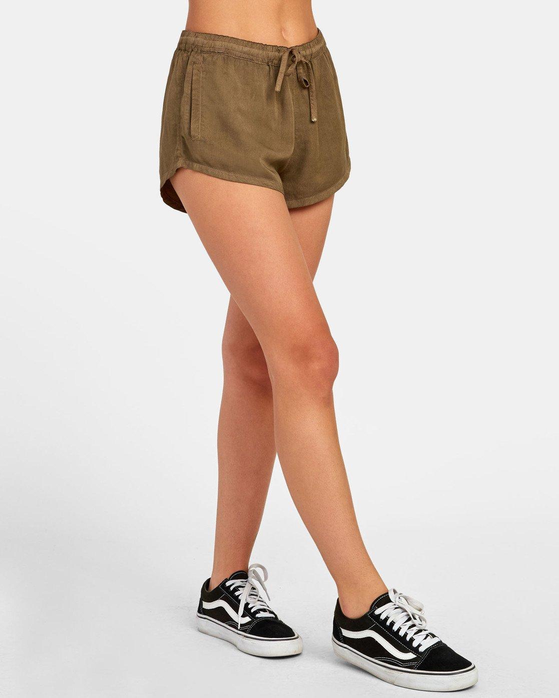1 Camron - Short en toile à taille élastique pour Femme  S3WKRNRVP0 RVCA