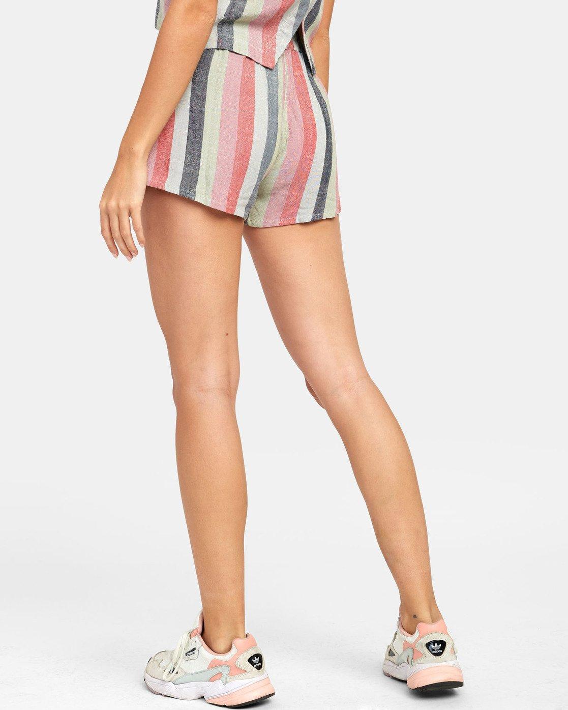 3 Suggest Stripe - Short à rayures pour Femme  S3WKRORVP0 RVCA