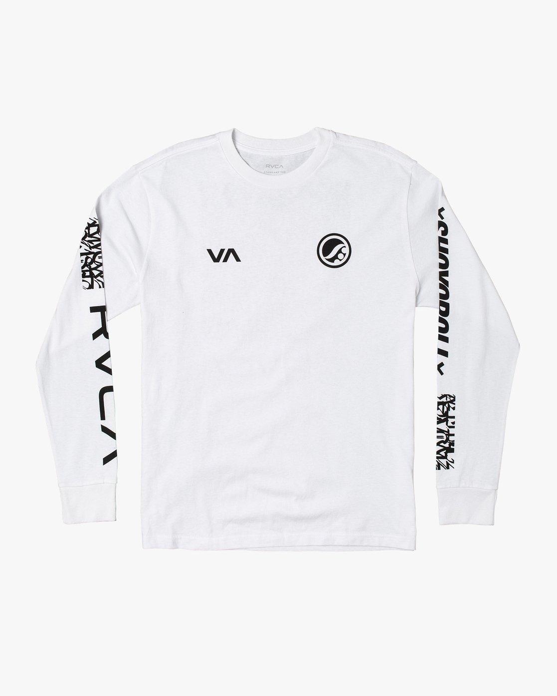 0 Shoyoroll Defer Vaxsho - Long Sleeve T-Shirt for Men White S4LSRARVP0 RVCA
