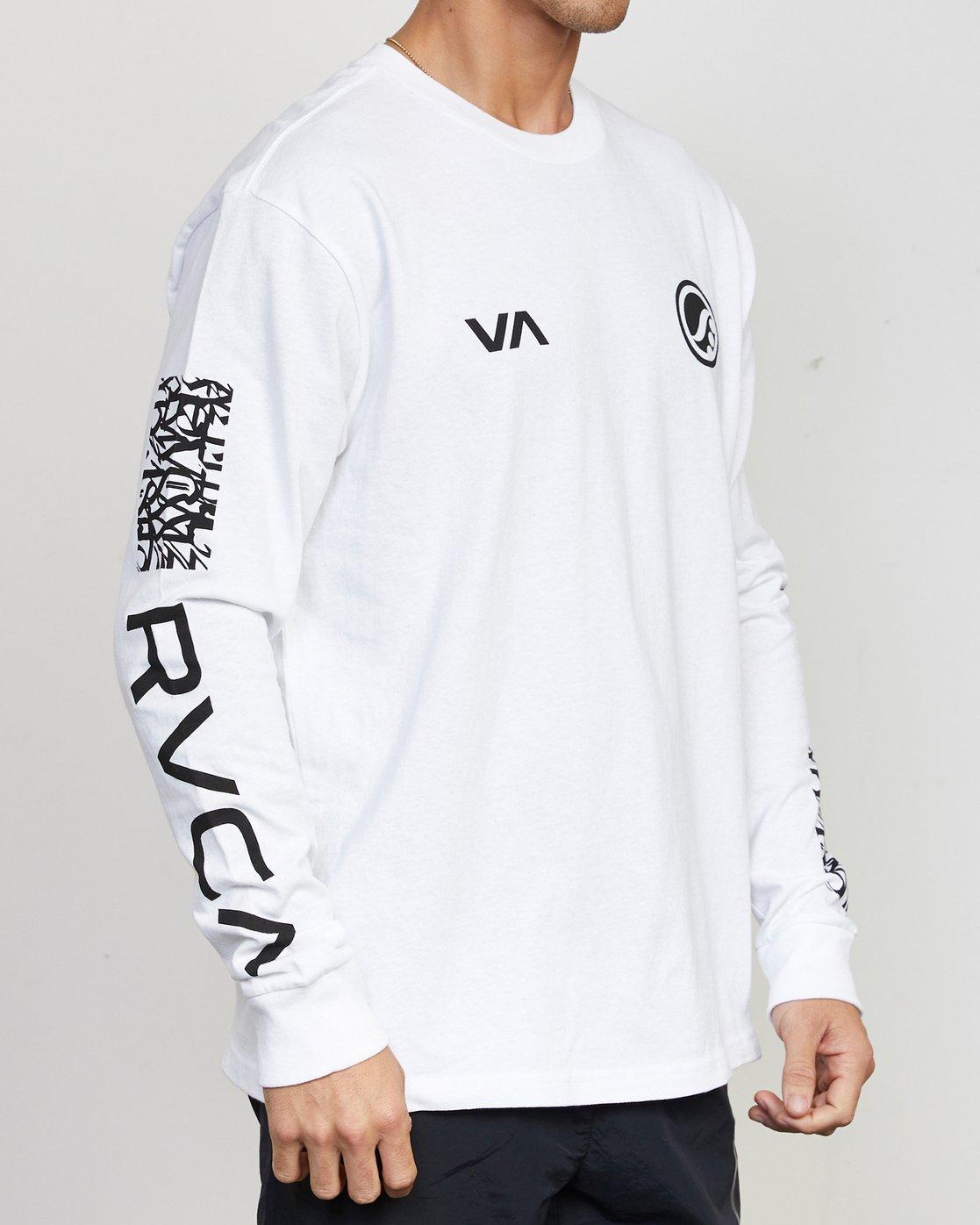 2 Shoyoroll Defer Vaxsho - Long Sleeve T-Shirt for Men White S4LSRARVP0 RVCA