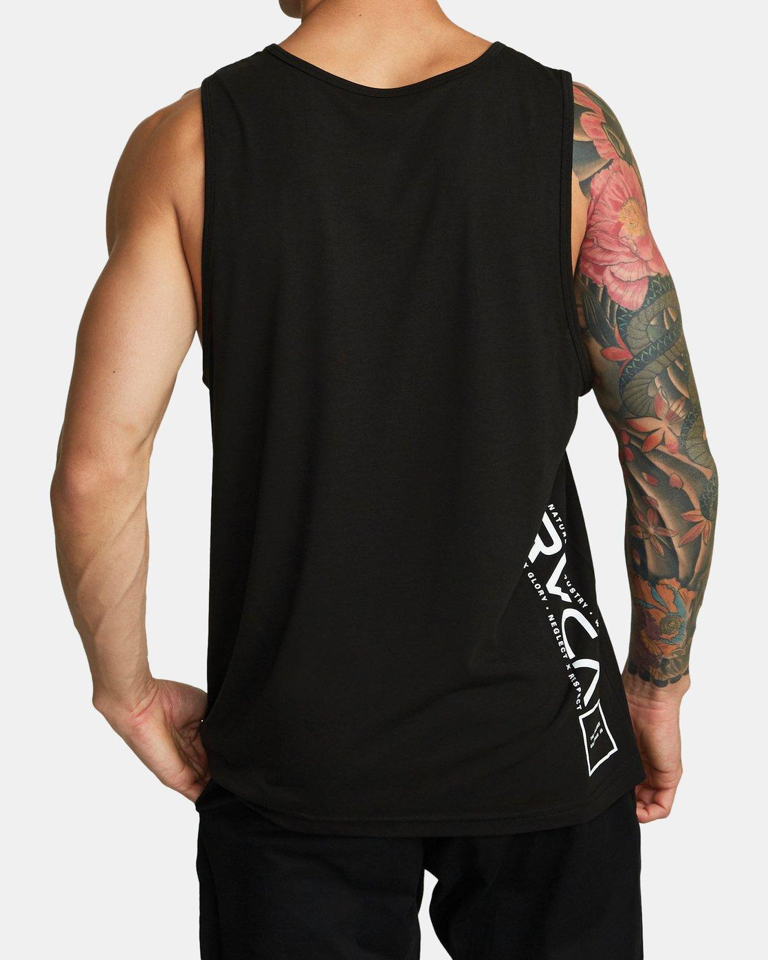 1 RVCA Lane - Athletic Tank Top for Men Black S4SGMARVP0 RVCA