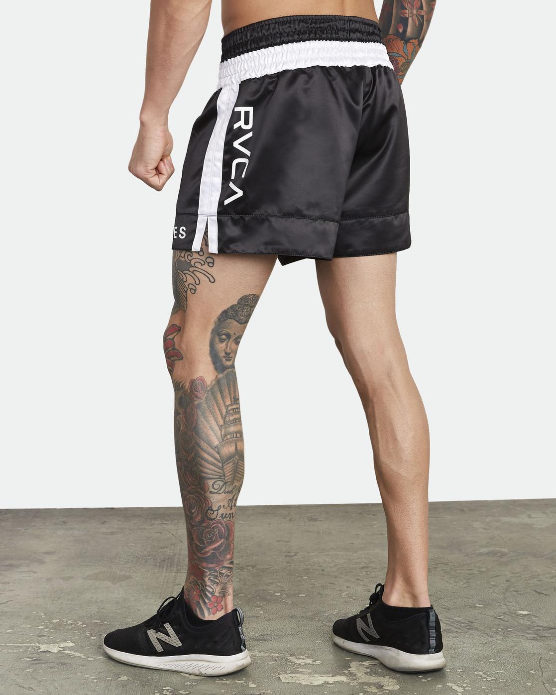 7 RVCA Muay Thai  - Athletic Shorts for Men Black S4WKMCRVP0 RVCA