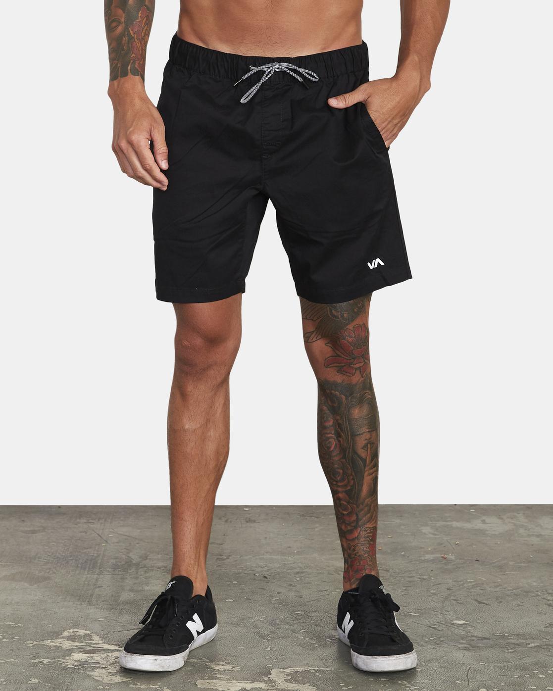 "1 Spectrum 18"" - Athletic Shorts for Men Black S4WKMERVP0 RVCA"