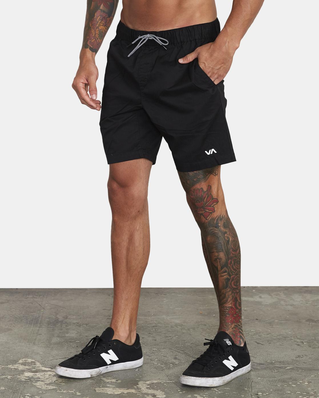 "2 Spectrum 18"" - Athletic Shorts for Men Black S4WKMERVP0 RVCA"
