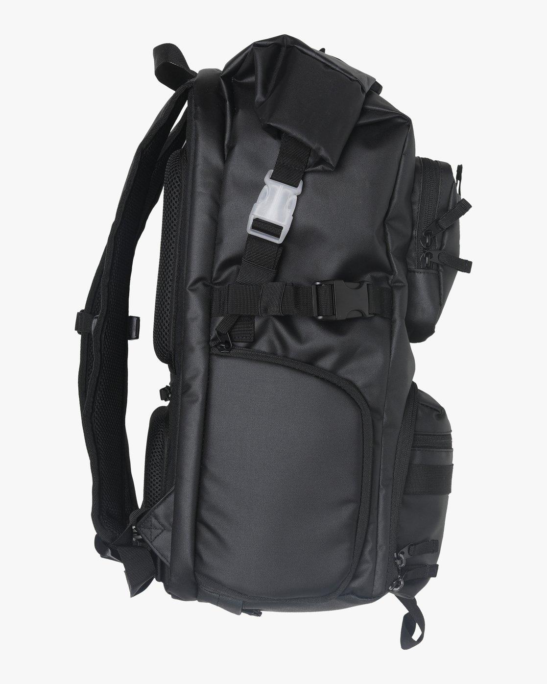 3 Zak N. - Roll Top Camera Backpack for Men Black S5BPRARVP0 RVCA
