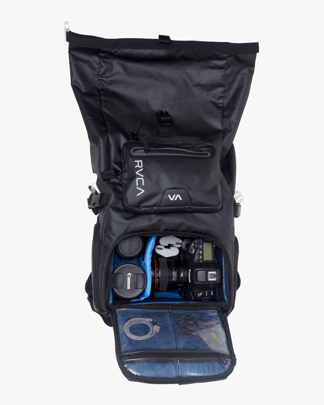 4 Zak N. - Roll Top Camera Backpack for Men Black S5BPRARVP0 RVCA