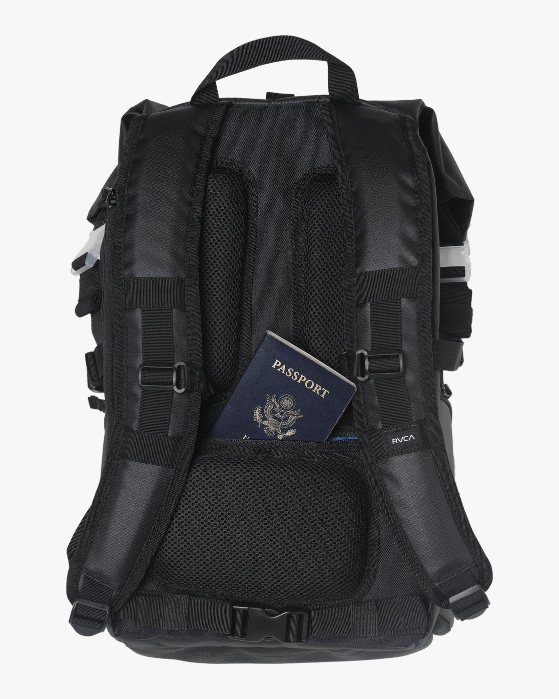 1 Zak N. - Roll Top Camera Backpack for Men Black S5BPRARVP0 RVCA