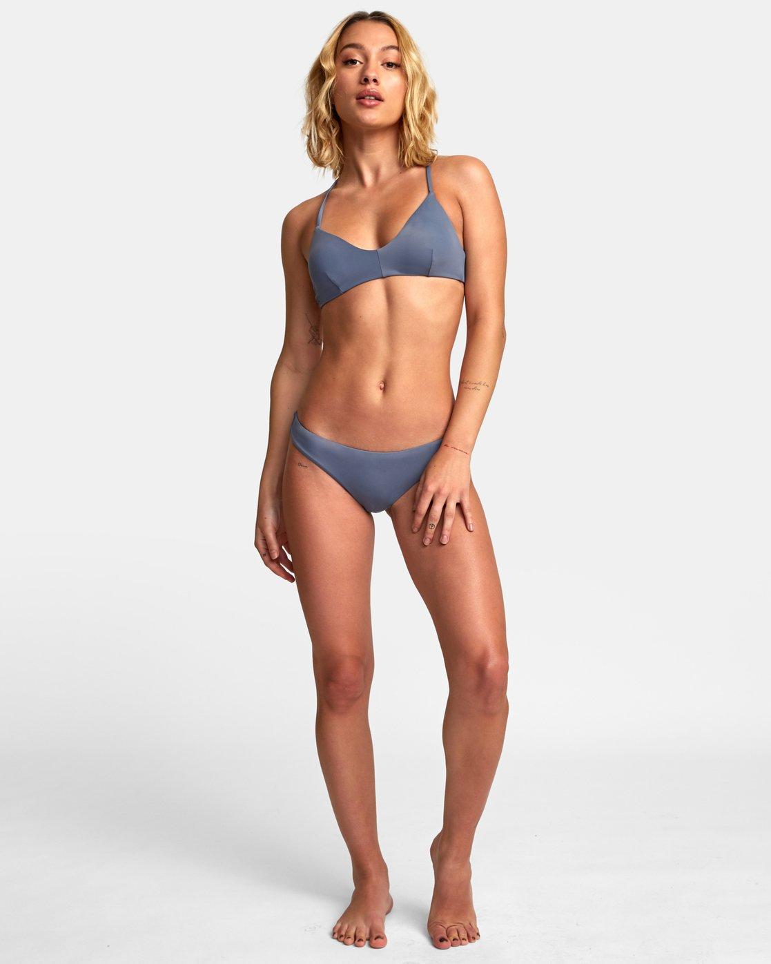 1 Solid Cheeky Bikini Bottoms Blue SJXB01SC RVCA