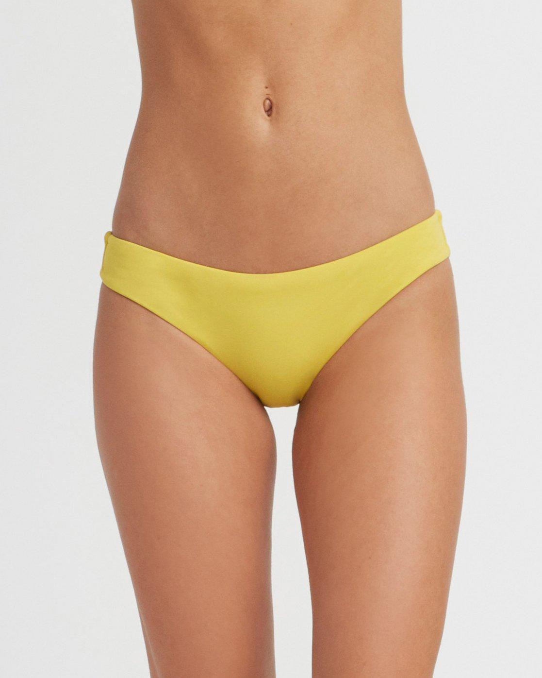 3 Solid Cheeky Bikini Bottoms Yellow SJXB01SC RVCA
