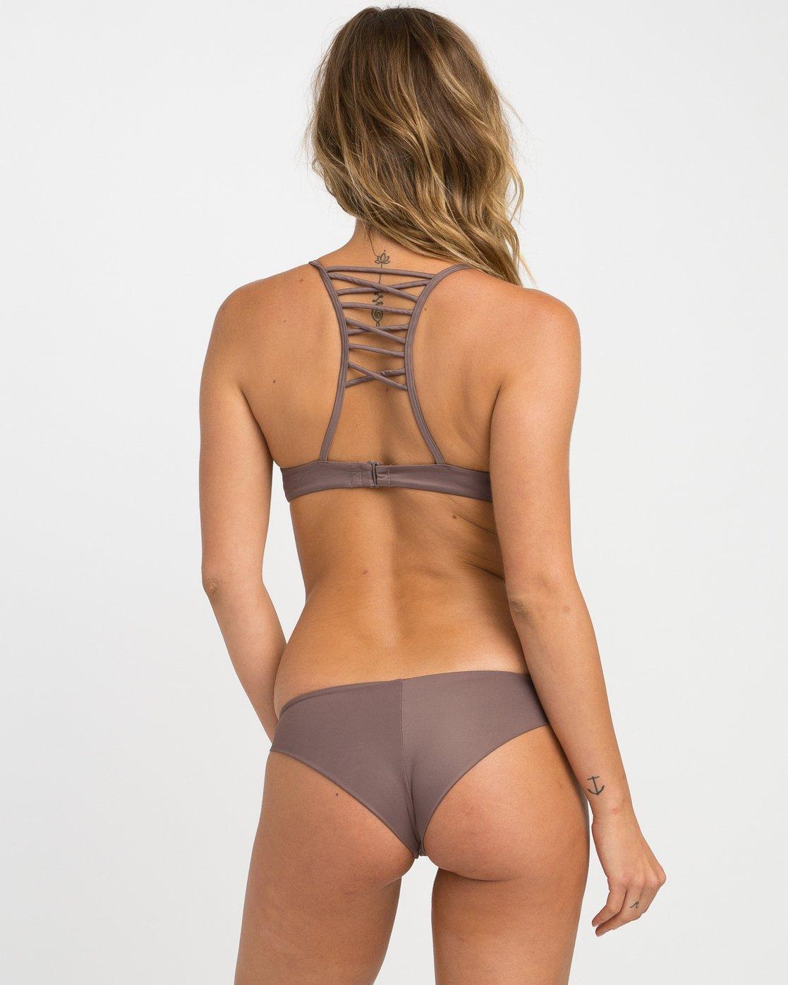 0 Solid Cheeky Bikini Bottoms Brown SJXB01SC RVCA