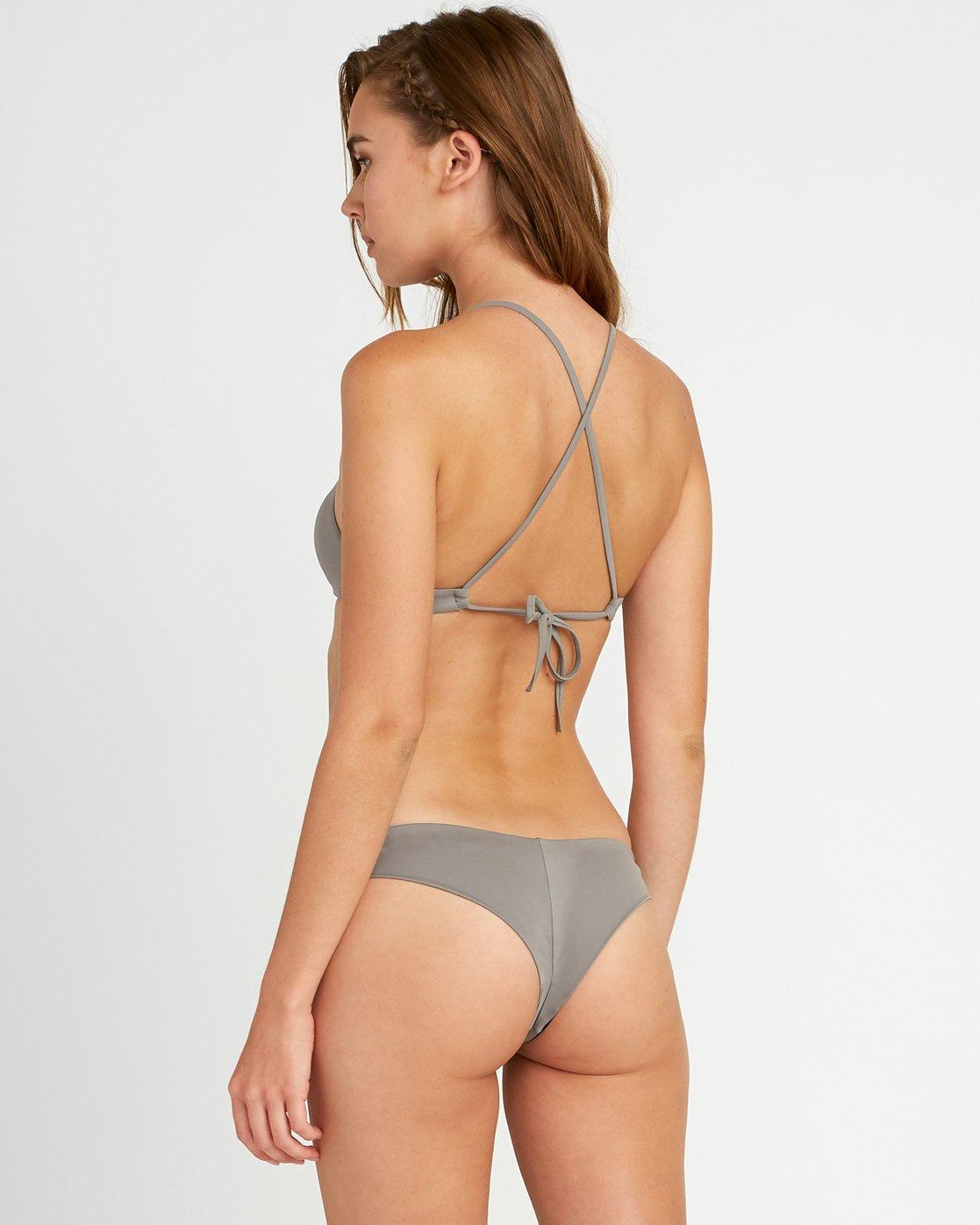 0 Solid Cheeky Bikini Bottoms Blue SJXB01SC RVCA
