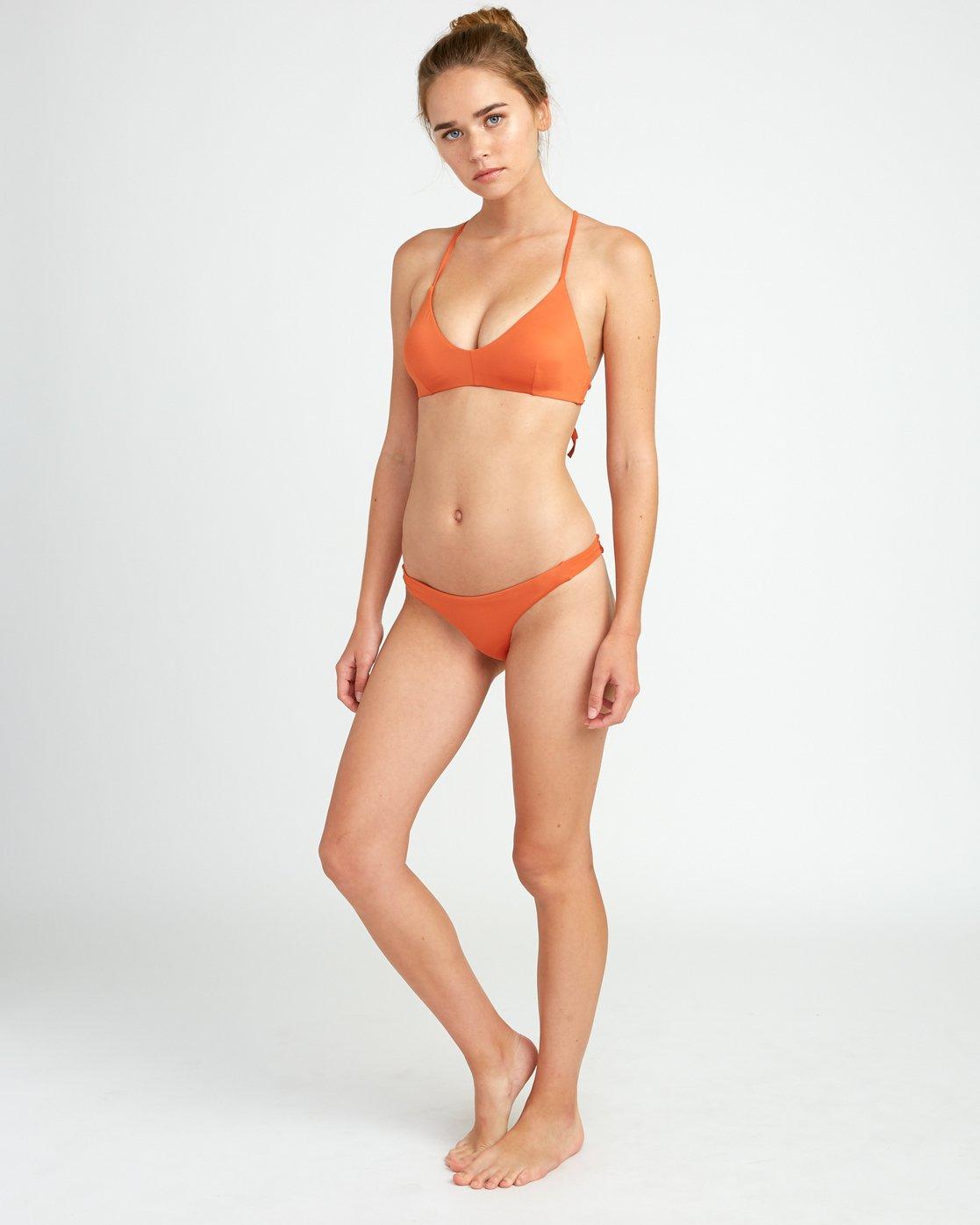 4 Solid Cross Back Bikini Top Yellow SJXT01SC RVCA