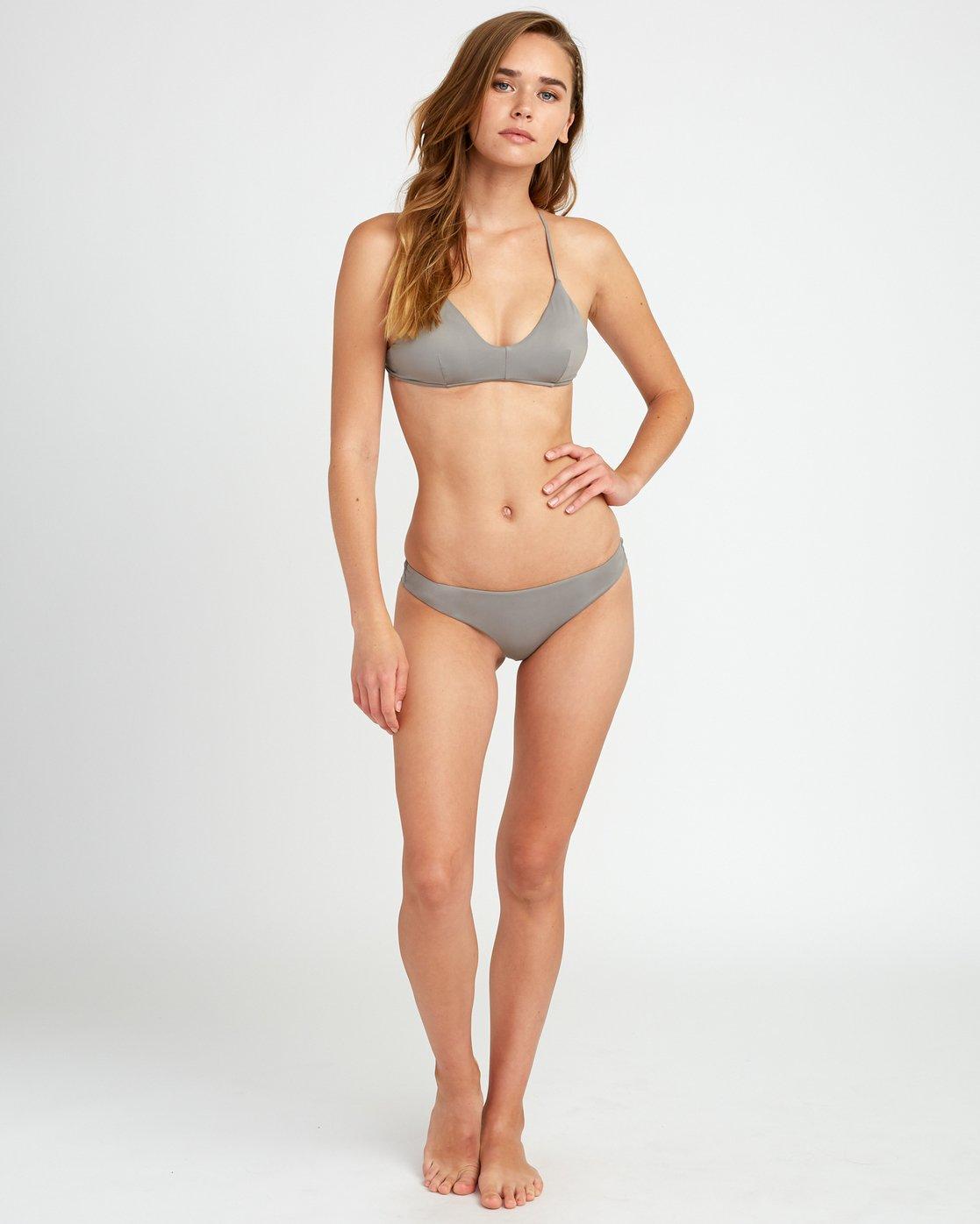 4 Solid Cross Back Bikini Top Blue SJXT01SC RVCA