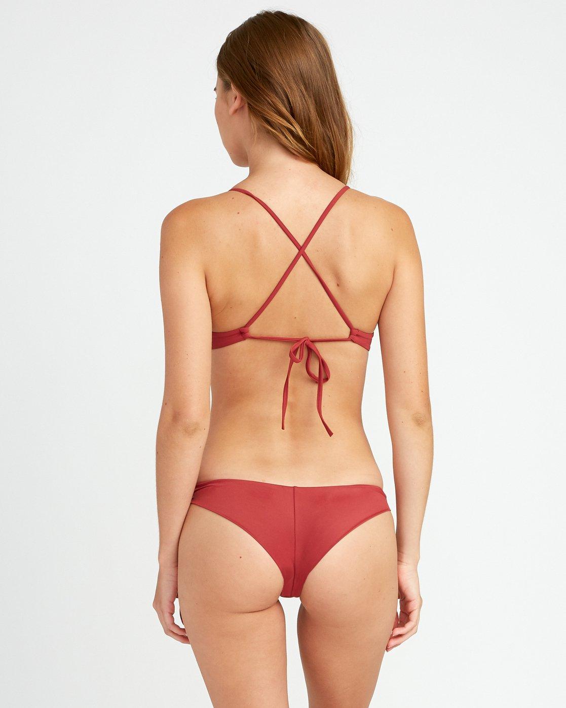 2 Solid Cross Back Bikini Top Red SJXT01SC RVCA
