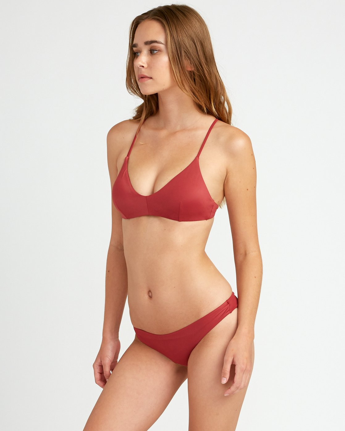 1 Solid Cross Back Bikini Top Red SJXT01SC RVCA