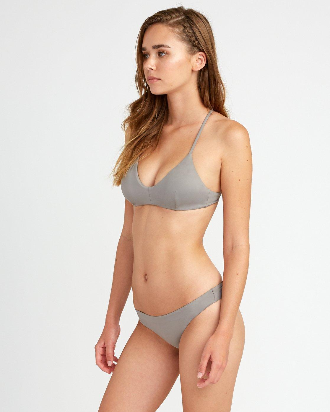 3 Solid Cross Back Bikini Top Blue SJXT01SC RVCA