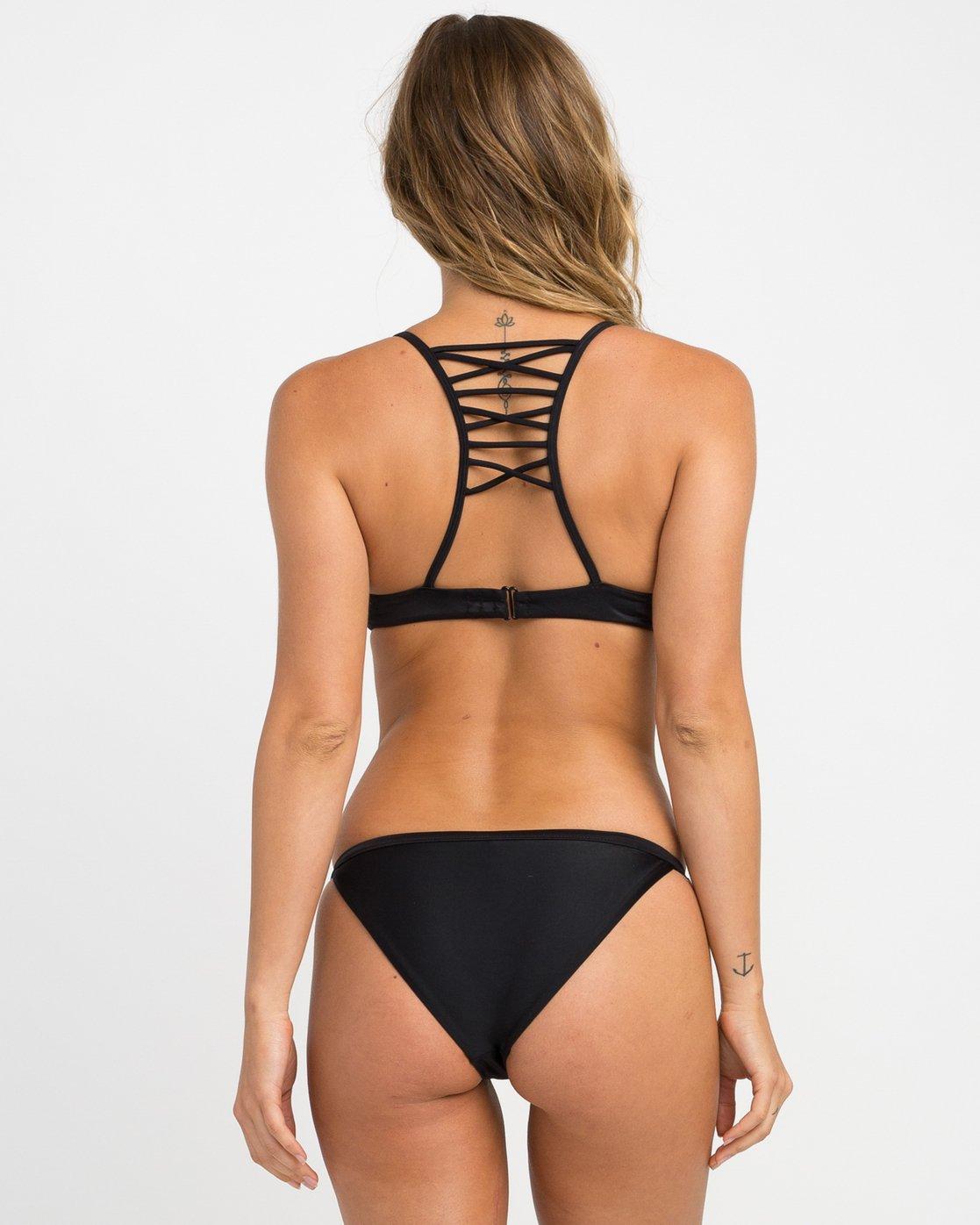 0 Solid Medium Bikini Bottoms Black SKXB01SM RVCA