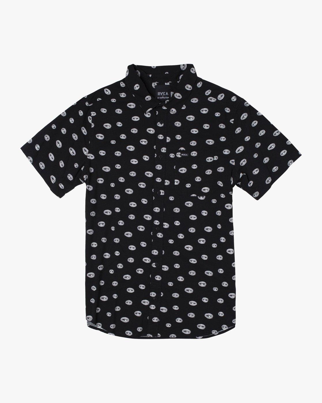 0 Ed Templeton Templeton Eyes - Short Sleeve Shirt for Men Black T1SHRARVS0 RVCA