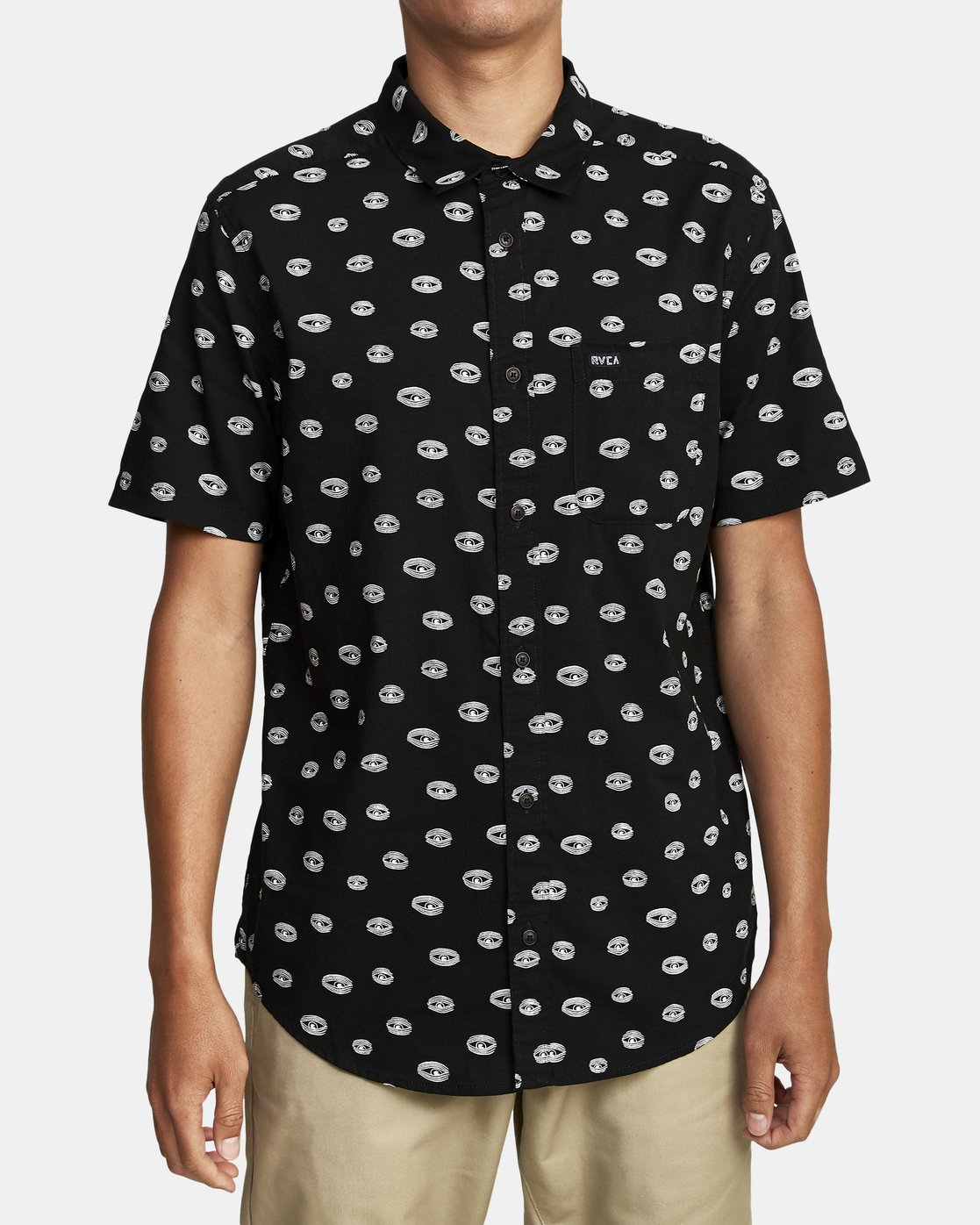 1 Ed Templeton Templeton Eyes - Short Sleeve Shirt for Men Black T1SHRARVS0 RVCA