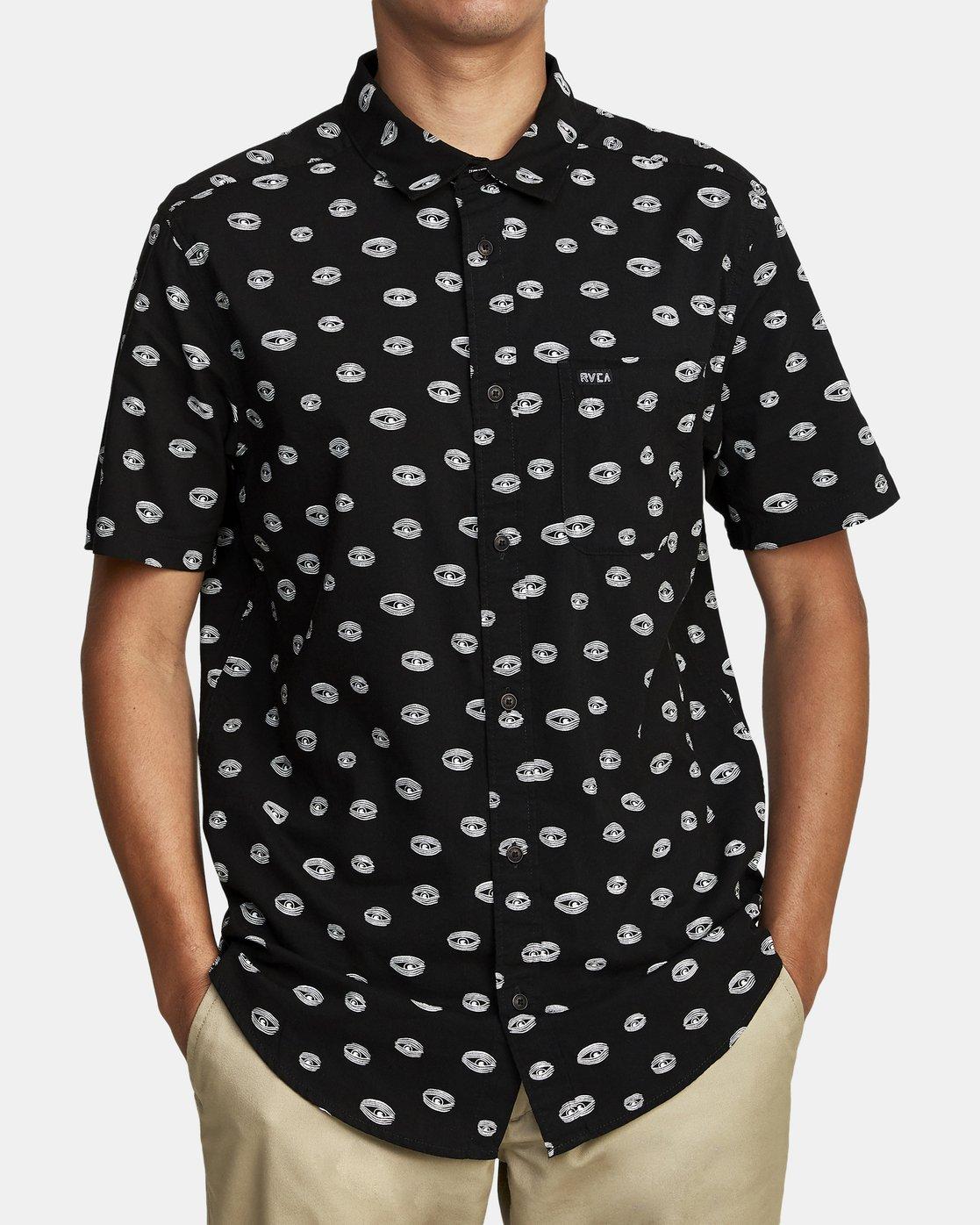 2 Ed Templeton Templeton Eyes - Short Sleeve Shirt for Men Black T1SHRARVS0 RVCA