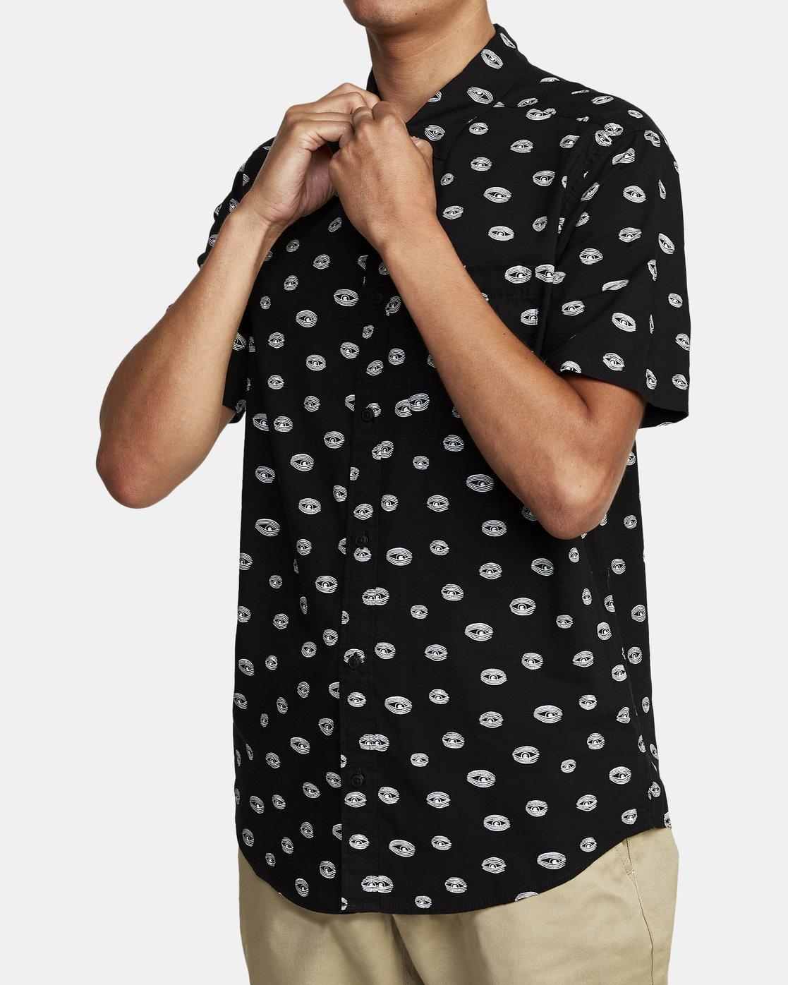 3 Ed Templeton Templeton Eyes - Short Sleeve Shirt for Men Black T1SHRARVS0 RVCA