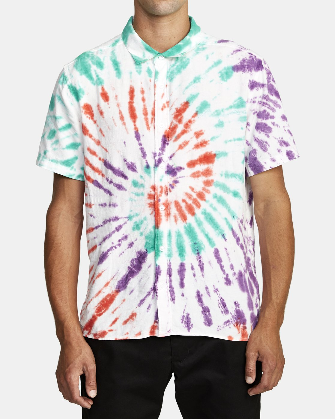 1 Freepoint - Short Sleeve Shirt for Men  T1SHRGRVS0 RVCA