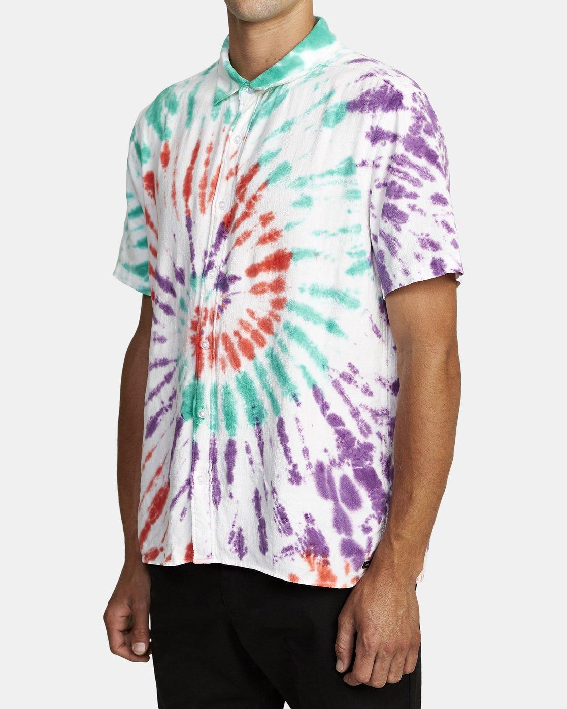 3 Freepoint - Short Sleeve Shirt for Men  T1SHRGRVS0 RVCA
