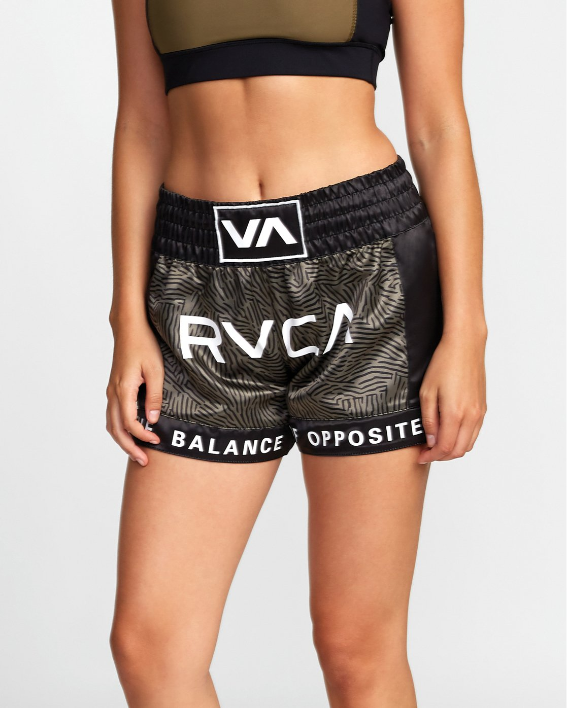 7 RVCA MUAY THAI SHORT Green T2021RBS RVCA
