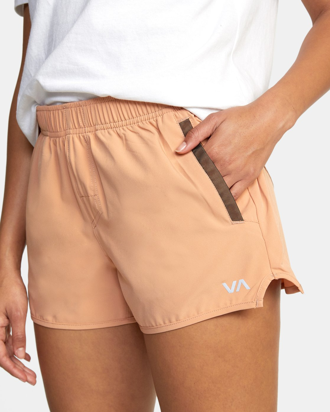 "2 Womens Yogger Stretch Short 11.5"" Brown T202TRYS RVCA"