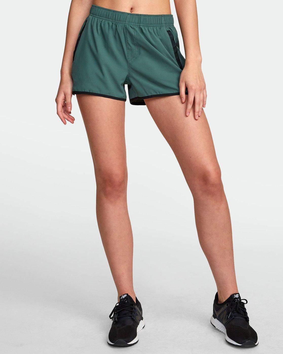 0 Womens Yogger Stretch Short Green T202TRYS RVCA