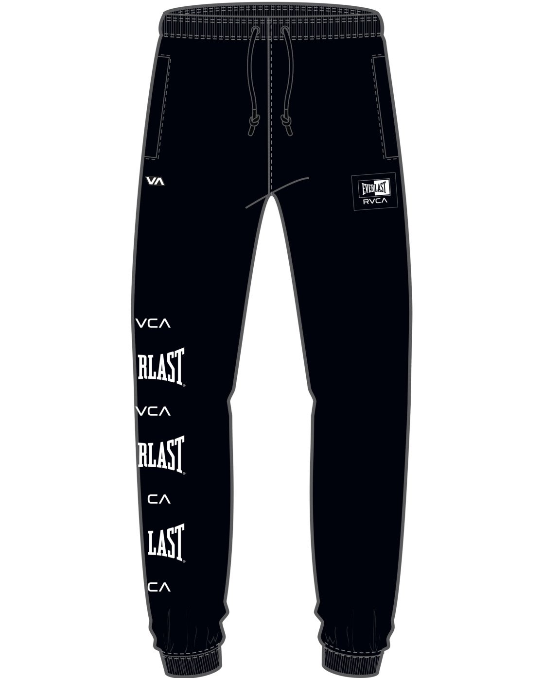 7 EVERLAST SPORT WORKOUT SWEATPANT Black T3081RES RVCA