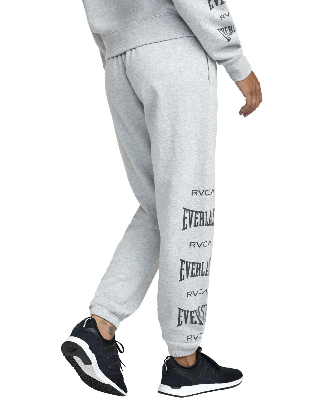 5 EVERLAST SPORT WORKOUT SWEATPANT Grey T3081RES RVCA