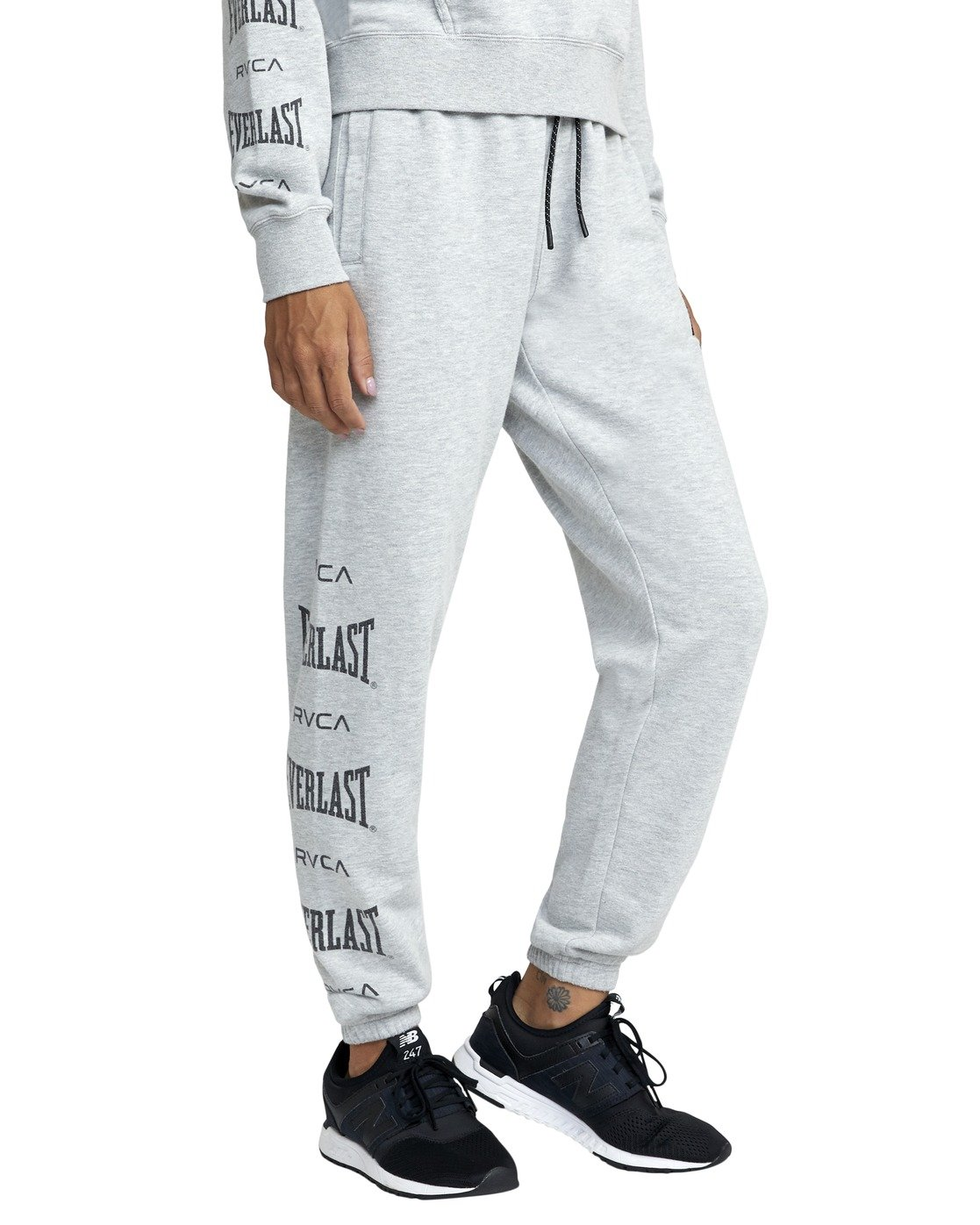 2 EVERLAST SPORT WORKOUT SWEATPANT Grey T3081RES RVCA