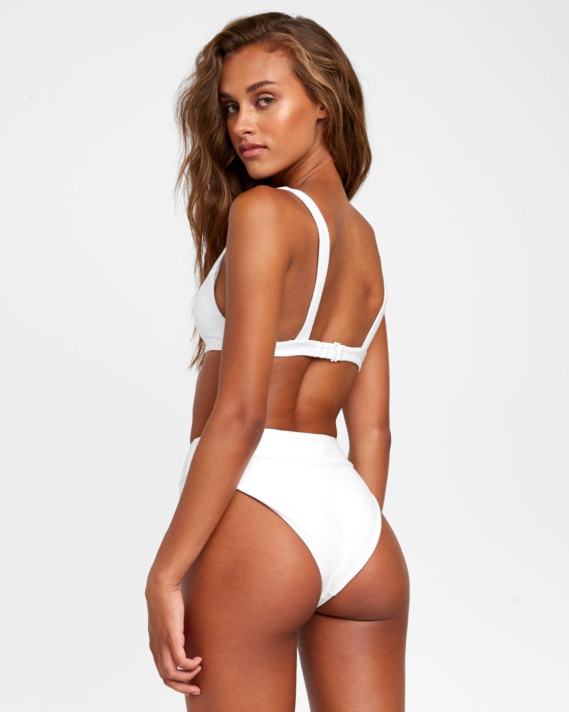 0 Salt Wash - High Rise Bikini Bottoms for Women White T3SBRJRVS0 RVCA