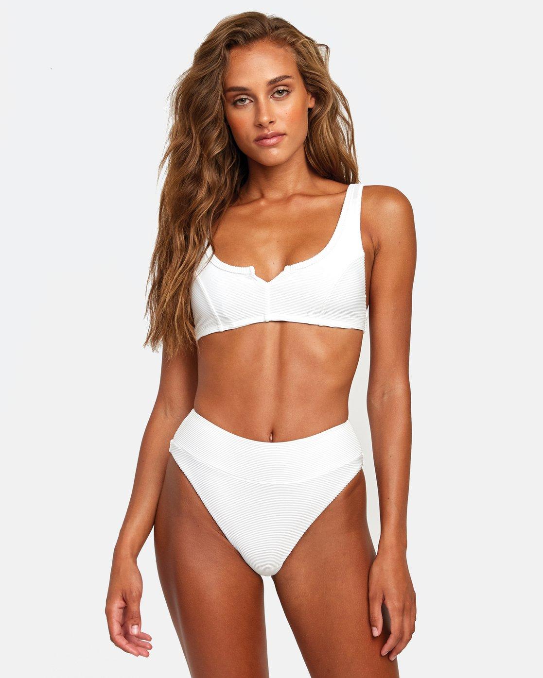 2 Salt Wash - High Rise Bikini Bottoms for Women White T3SBRJRVS0 RVCA