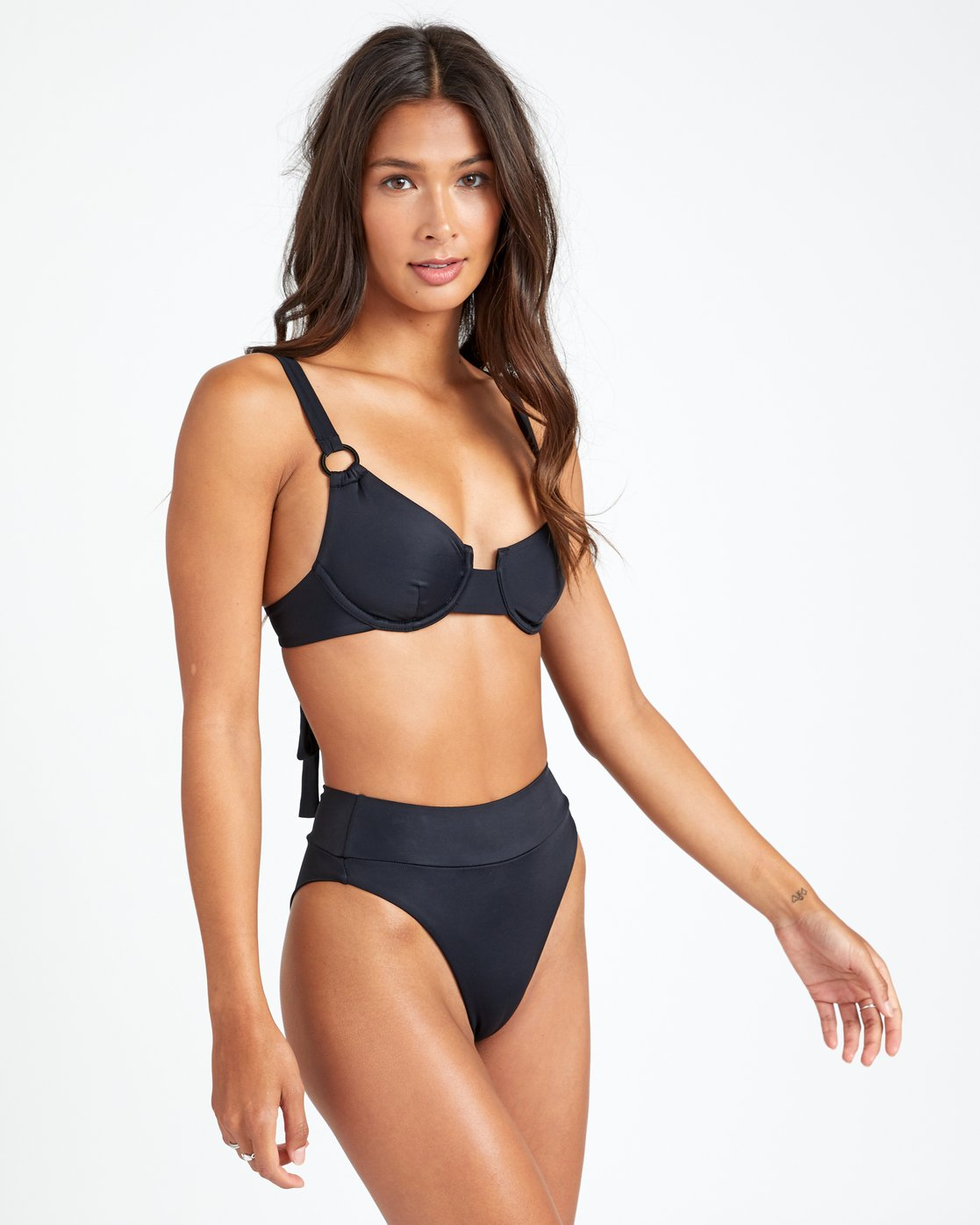 1 Solid High Rise - Bikini Bottoms for Women Black T3SBRRRVS0 RVCA