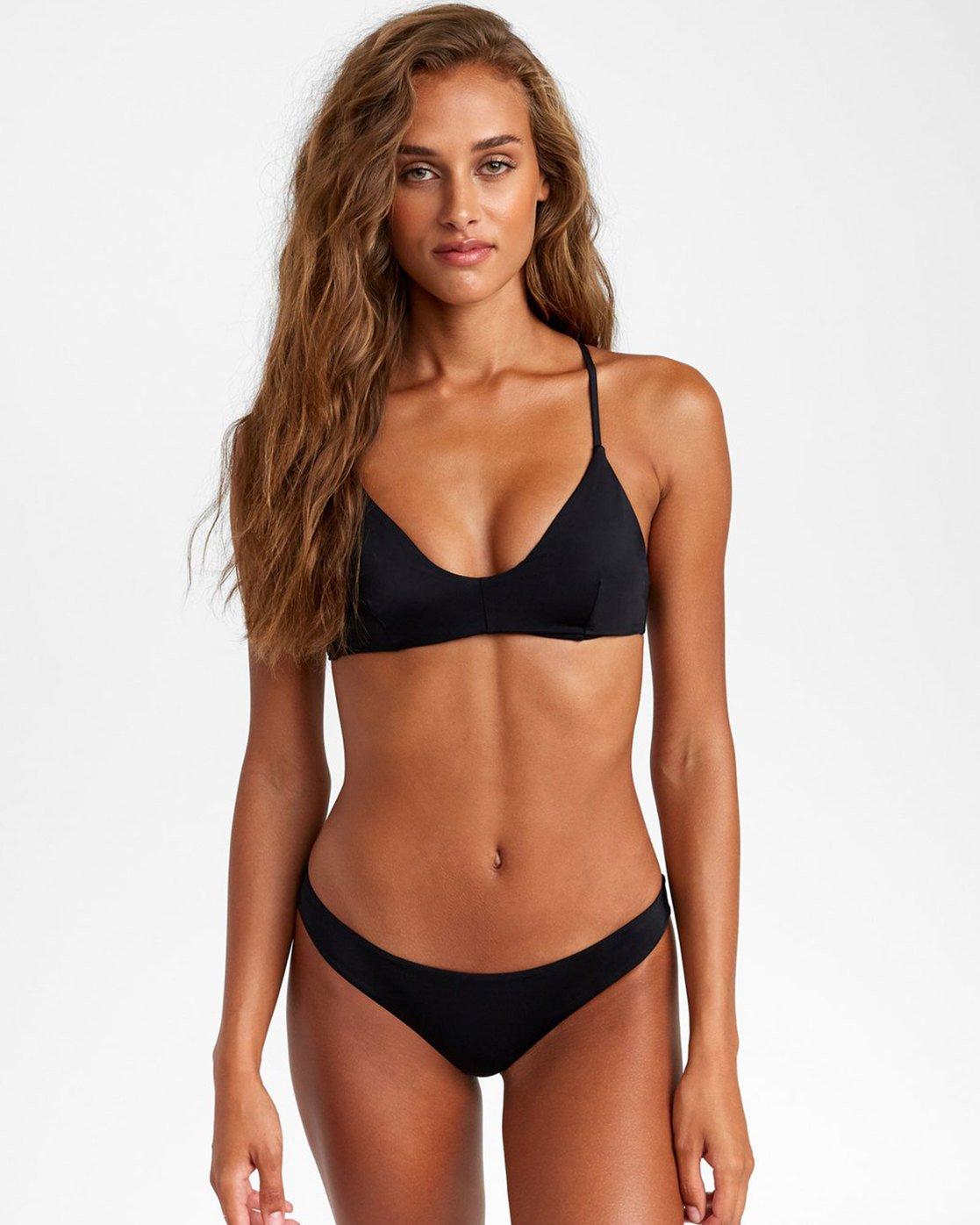 0 Solid Cheeky - Bikini Bottoms for Women Black T3SBRSRVS0 RVCA