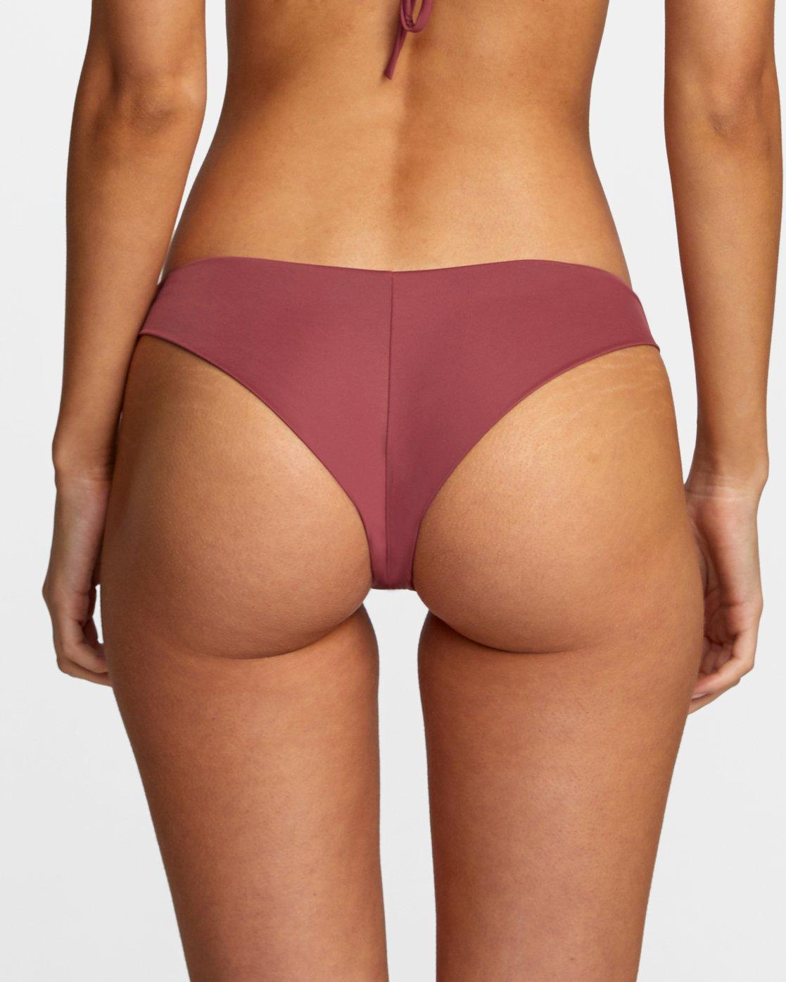 4 Solid Cheeky - Bikini Bottoms for Women Purple T3SBRSRVS0 RVCA