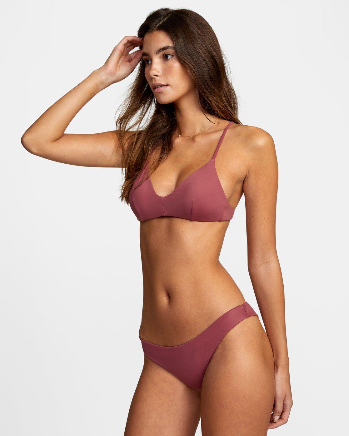 3 Solid Cheeky - Bikini Bottoms for Women Purple T3SBRSRVS0 RVCA