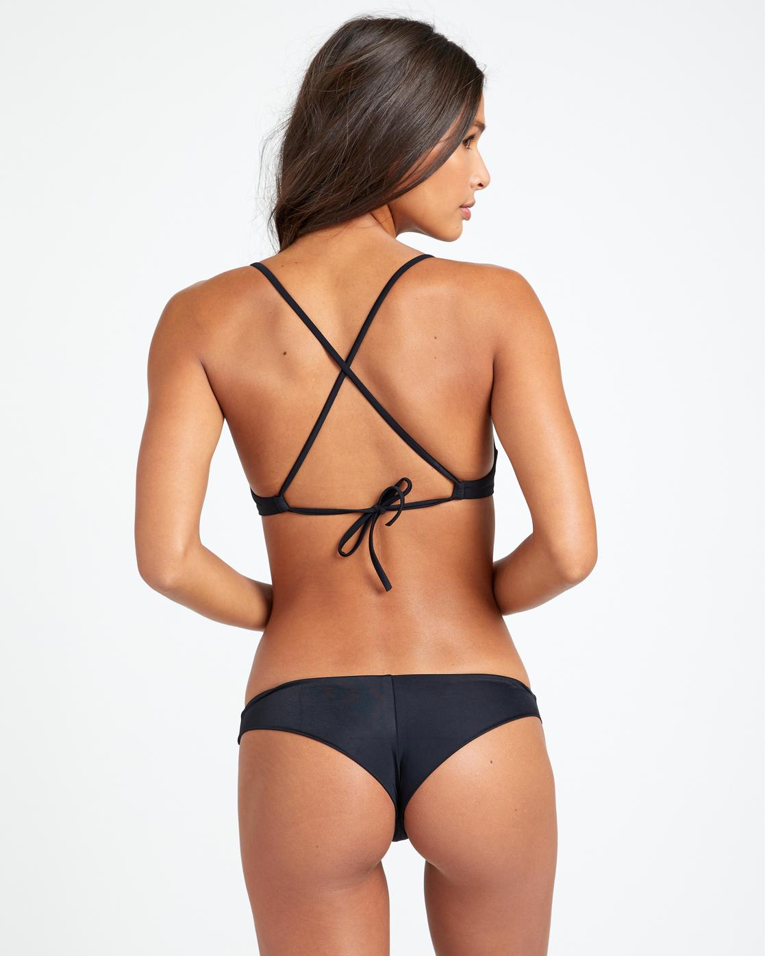 3 Solid Cheeky - Bikini Bottoms for Women Black T3SBRSRVS0 RVCA
