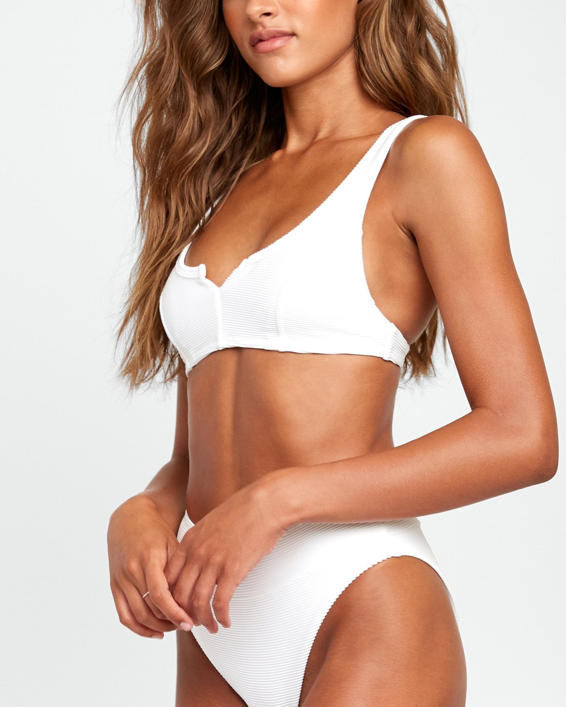3 Salt Wash - Bralette Bikini Top for Women White T3STRJRVS0 RVCA
