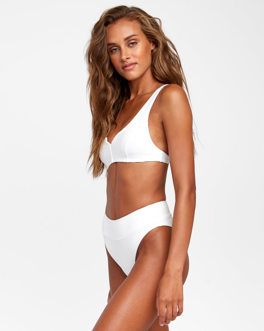 1 Salt Wash - Bralette Bikini Top for Women White T3STRJRVS0 RVCA