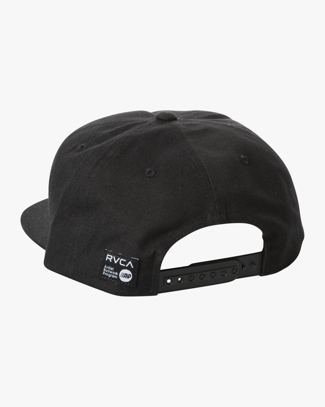 1 Ed Templeton - Snapback Cap Black T5CPRBRVS0 RVCA