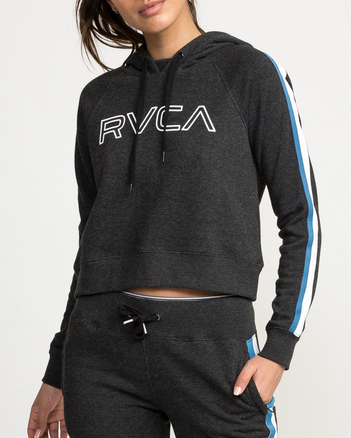 3 VA Guard Fleece Hoodie Black T601QRGH RVCA